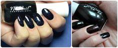 Black nail polish Nails flowers manicure Find us on: www.facebook.pl/neonailpl