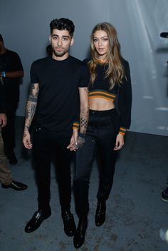 Gigi Hadid and Zayn Malik looked divine together at London Fashion Week. See more action from the London Fashion Week FROW here: http://lifestyle.one/grazia/fashion/news/london-fashion-week-front-row/