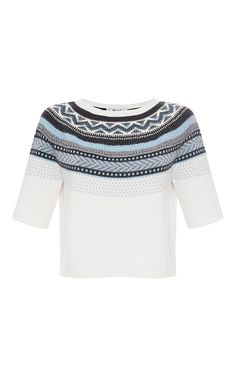 Ivory Jacquard Sweater  by BLUGIRL