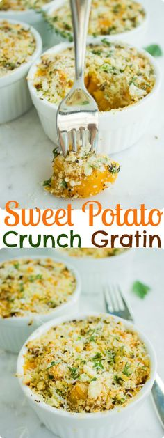 Crunchy Sweet Potato Gratin. Tender nutritious sweet potatoes cooked ...