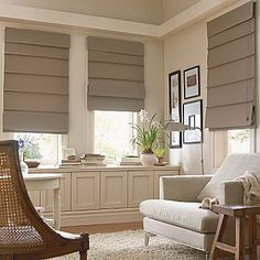 Roman shades with blackout liner for master bedroom?