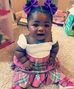 Cute Black Babies, Beautiful Black Babies, Brown Babies, Black Kids, Cute Baby Girl, Beautiful Children, Cute Babies, Baby Girl Fashion, Kids Fashion