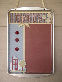 """cookie sheet magnet board 