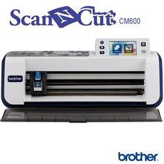ScanNCut CM600 - Brother, la 1ère machine de découpe avec scanner intégré. Inclus 600 motifs, 5 polices de caractères.
