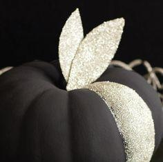 silvery glittery pumpkin black halloween from sweet paul magazine