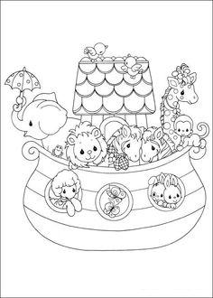 Precious Moments de niños para colorear - Imagui