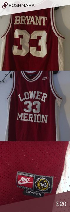 7fccd112029 Kobe Bryant High School Jersey Kobe Bryant s Lower Merion Nike High School  Jersey Nike Shirts