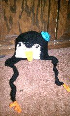 Penguin Earflap Hat   AllFreeCrochet.com