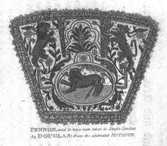 The Pennon or banner flown by Sir Henry Percy aka Harry Hotspur and taken from him in combat by James Douglas, Earl of Douglas. Uk History, History Online, British History, Knights Middle Ages, John Of Gaunt, Historical Fiction Authors, Plantagenet, 1st Century, Medieval Knight