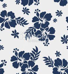 hibiscus flower print Royalty Free Stock Vector Art Illustration