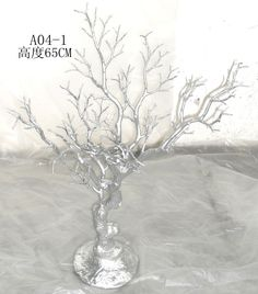 10 pcs/lot  FREE SHIPPING 25 inches silver wedding and event Decorative statue tree Natural Branch Christmas tree