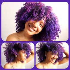 LOVE LOVE LOVE - PURPLE NATURAL HAIR #colornaturalhair #naturalhair #kurlfriends