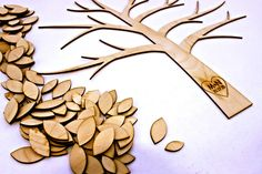 Custom Cut and Engraved Tree of Life~A Wedding Guestbook Alternative~136 leaves