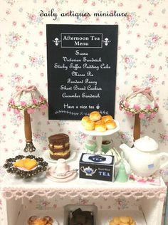 English Afternoon Tea Shelf | by daily_antiques_miniature