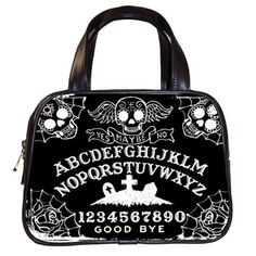 Ouija Board Sugar Skull hand bag and other black occult styles by StuffoftheDead, $35.99