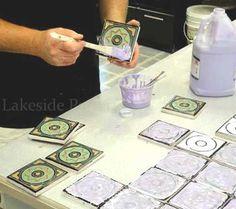 glazing tiles - custom work