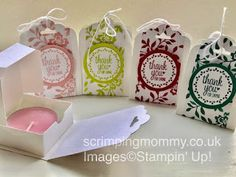 scrimpingmommy: In colour festival day 5 boxed tea light and holde...