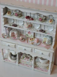 dollhouse tea cupboard