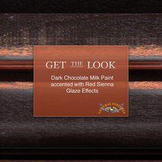 Dark Chocolate a little too dark?  Try accenting it with GF Burnt Sienna Glaze…