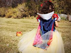 Snow White Tutu Dress w/ cape by RayneBelles on Etsy