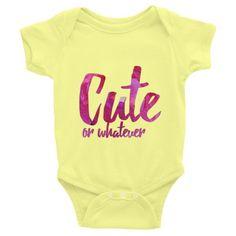 Cute or Whatever Infant short sleeve one-piece  #blanket #bathroom #afro #green #groupeconomics #mug #politics #shower #interiordesign #shoutouttogod #businessowner #maat #blackwomen #studentloanssuck #showercurtain