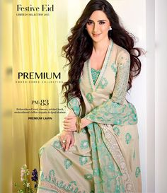 Gul Ahmed Premium Embroidered Chiffon Festive Collection 2015 PM-83