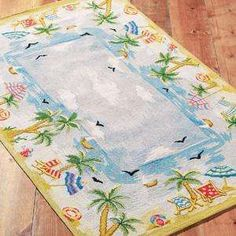 Tropical Beach Bathroom Bath Rug Wiki