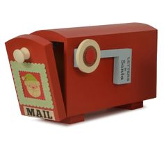 Too cute: handmade letters to santa mailbox! Our kids would play with this looooong after the 25th.