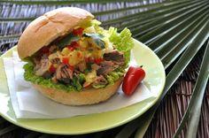 Hawaii meets Mexico- Kalua Pork Torta with Pineapple Salsa