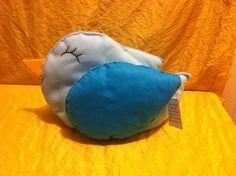 Morbido cuscino ... Uccellino in feltro .. Mis L32x28h