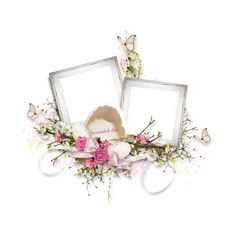 RR_ShabbyEaster_Cluster06.png ❤ liked on Polyvore featuring frames, easter, filler, flowers, borders and picture frame