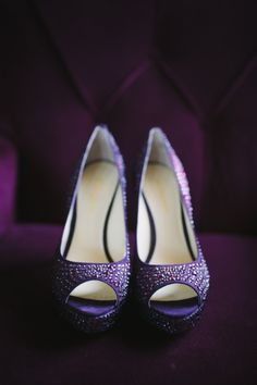 Purple wedding shoes // photo by http://www.pure7studios.com, see more: http://theeverylastdetail.com/purple-vintage-eclectic-florida-wedding/