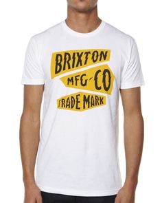 SURFSTITCH - MENS - TEES - REGULAR FIT TEES - BRIXTON AMP TEE - WHITE Brixton, Mens Tees, Surfing, Graphic Tees, Tee Shirts, Graphics, Amp, Boys, Inspiration