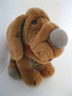 "1984 GANZ BROS Wrinkles Dog Sitting Dog Tag 412404 10"" H Boy Girls Brown Puppy #GANZBROS"