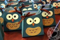 how to make owl favor bags | So I can't take credit for this idea, I found these cute owl favor ...
