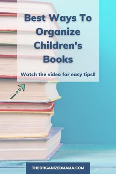Find the best ways to organize children's books and tips on how to store children's books at home. It's easy to end up with tons of kid's books and we share our tips on decluttering books. Learn how to declutter and organize children's books easily. Check out the YouTube video for a full tutorial on the best ways to organize books!