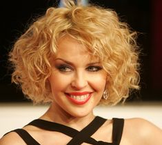 Short Curly Hair Color Ideas   For the thick hair, you can blow out your dry hair. Finish it with ...