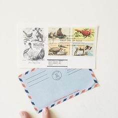 A quiet afternoon moment with some #snailmail #ephemera. | @ofnotestationers