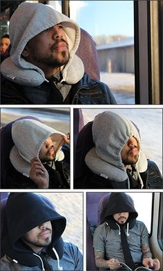 The Travel HoodiePillow, A Hooded Travel Pillow For Stylish Napping