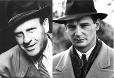 Oskar Schindler (Liam Neeson in Schindler's List) 30 Biopic Actors and Actresses and Their Real-Life Counterparts Liam Neeson, Music Film, Film Movie, Schindler's List Movie, Real People, Famous People, Schindlers Liste, Hooray For Hollywood, Movies