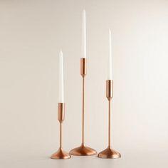 Copper Metallic Taper Candleholders | World Market