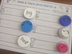 Hands on Printables for any Word List Clever Classroom