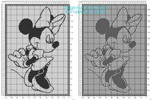Copertina neonato filet uncinetto con Disney Minnie altezza 160 quadretti