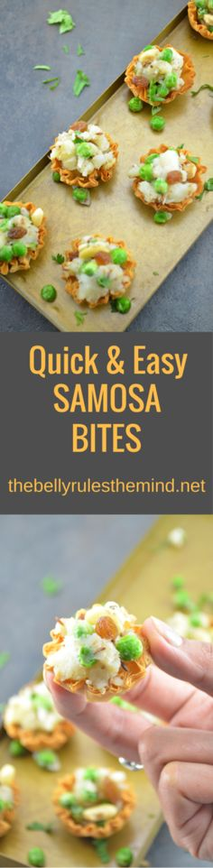 These Quick & Easy Samosa Bites Recipe is a fun bite sized meal for your family & friends! If  you are looking for a creative snack to serve to your friends & family. These Samosa Bites make a great appetizer or finger food for any party you may be having at your house or attending! www.thebellyrulesthemind @Bellyrulesdmind