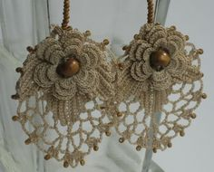Brincos de Crochet um luxo...
