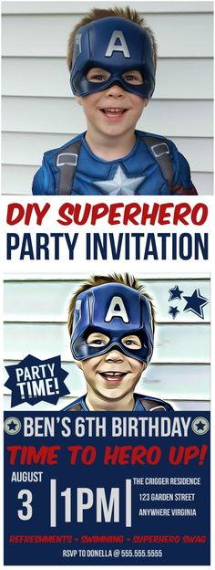 DIY Superhero Party Invitation With BeFunky
