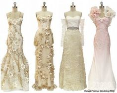 Romantic vintage wedding dresses, I like the one on the far left
