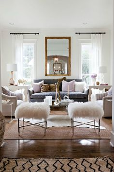 Picking a White Paint Color: 8 Proven Winners - Driven by Decor. This is a good example of black rods and other accents. Living Room White, White Rooms, My Living Room, White Walls, Home And Living, Living Room Decor, Bedroom Decor, Sherwin Williams White, Sherwin Williams Alabaster White