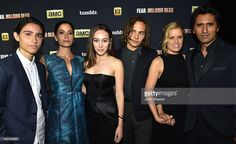 Actors Lorenzo James Henrie, Mercedes Mason, Alycia Debnam-Carey, Frank Dillane, Kim Dickens and Cliff Curtis attend AMC, ET And Tumblr's 'Fear The Walking Dead' Event during Comic-Con International 2015 on July 10, 2015 in San Diego, California.