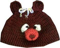 Bev's Bear Beanie!  Easy to crochet for kids